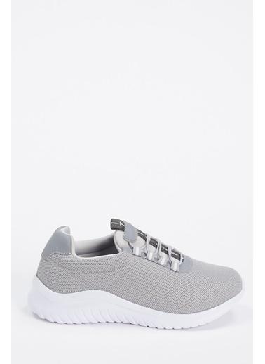 Defacto –Fit Bağcıklı Aktif Spor Ayakkabı Gri